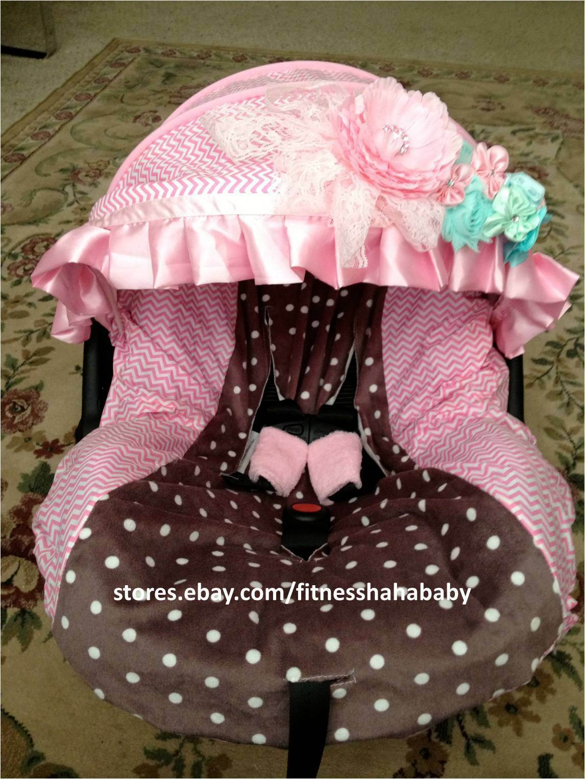 New Adorable Infant Car Seat Cover Canopy Cover Fit Most