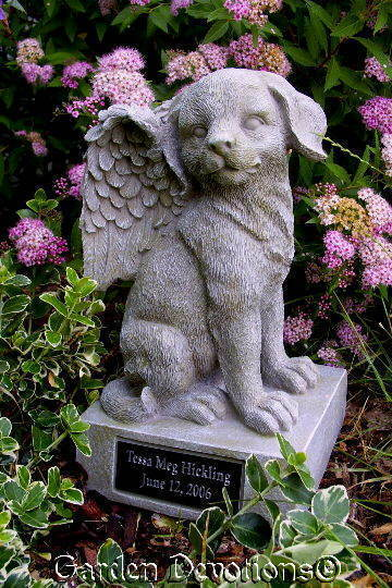 Nice Dog Angel Pet Memorial Urn Headstone Personalized Free