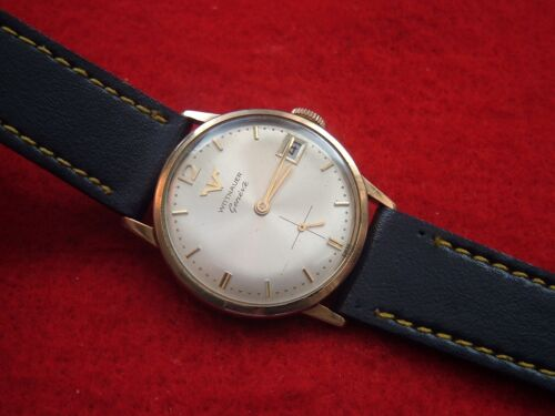 Nice Wittnauer Geneve Wrist Watch With Date Window At Three in Jewelry & Watches, Watches, Wristwatches | eBay
