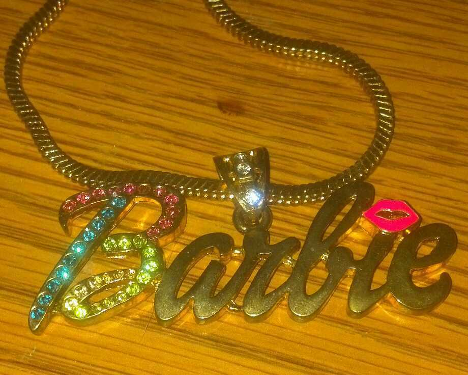 Nicki Minaj Barbie Necklace Gold Look with Gems Pink Friday YMCMB