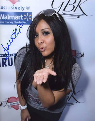 Nicole Polizzi Snooki Signed Photo Jersey Shore Hot