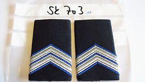 Niederlande-Rangschlaufen-silbern-blau-auf-schwarz-1paar-sk703