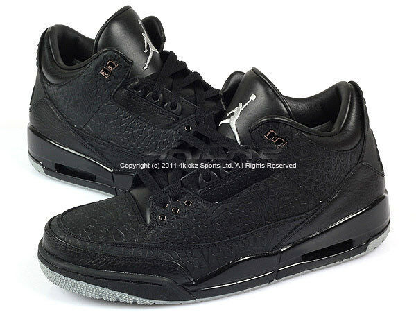 Nike Air Jordan Retro 3 III Flip Black/Metallic Silver Basketball