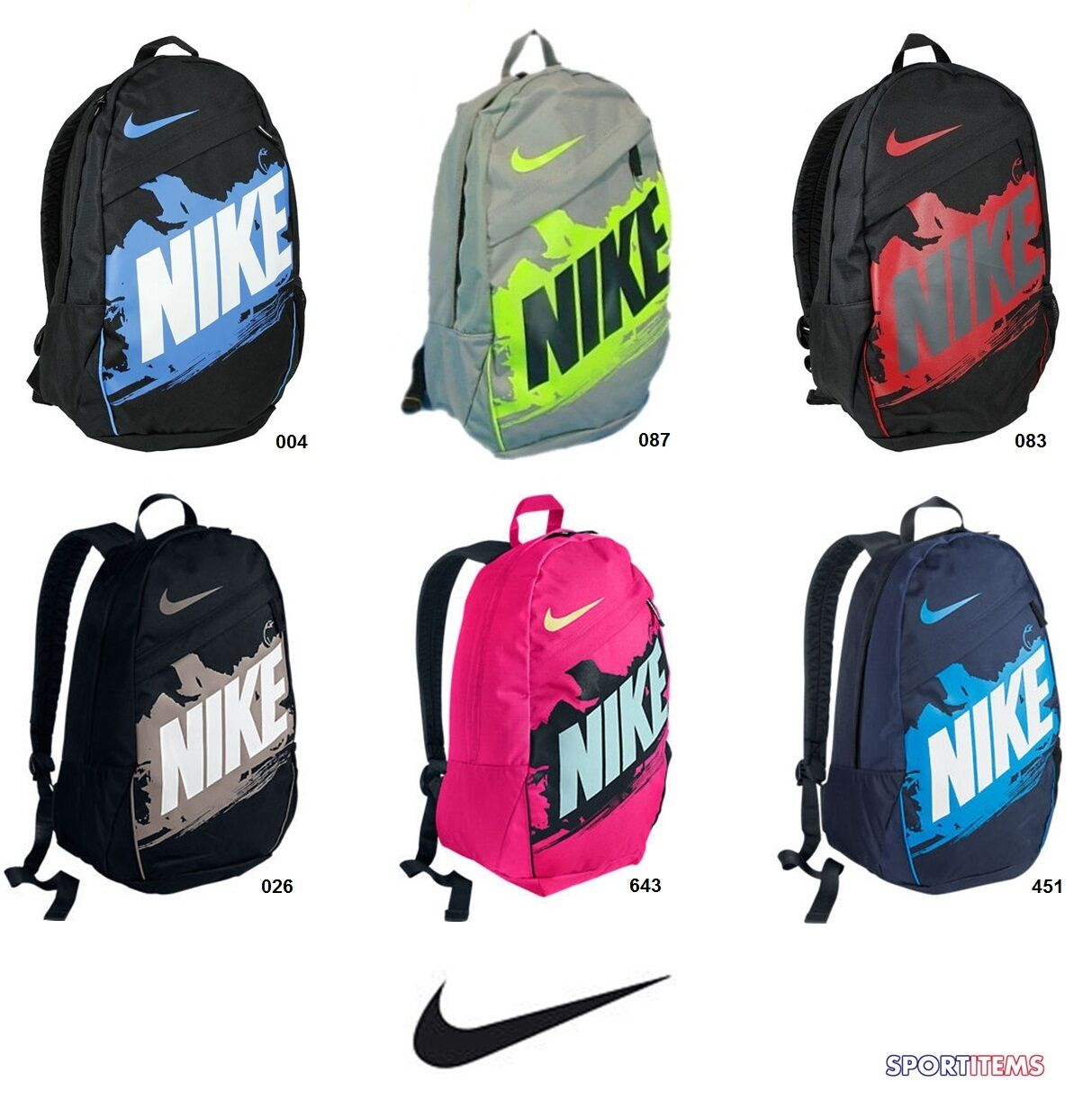 Details about Nike Backpack Bag Classic Athletic Travel School Gym ...