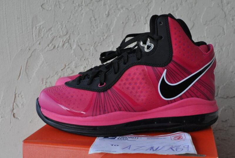 26b8e5b8b Nike Lebron 8 v 2 pink GS Girls South Beach pre heat black spark on ...