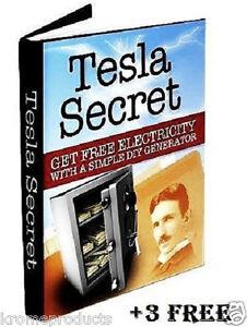 Nikola Tesla Generator Coil Secret Blueprints E Book Free Power Energy ...