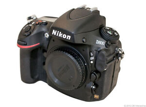 Nikon D800 36,3 MP Digitalkamera - Schwa...
