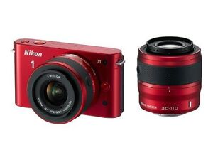 Nikon J1 10.1 MP Digital Camera - Red (K...