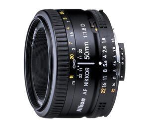 Nikon Nikkor AF 50 mm F/1.8 AF D Objekti...