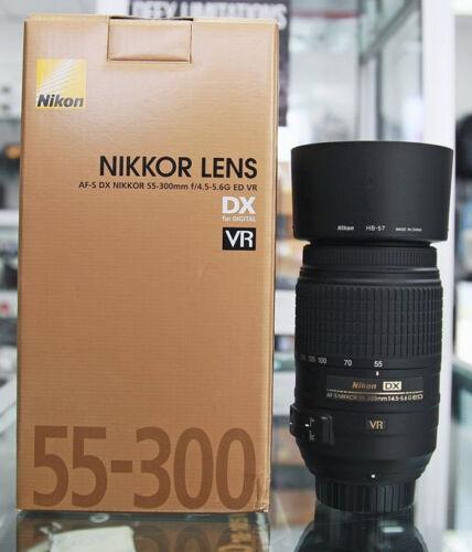 Nikon Nikkor AF-S 55-300mm F/4.5-5.6 VR DX ED G Lens BRAND NEW! Ships SAME DAY! in Cameras & Photo, Lenses & Filters, Lenses   eBay