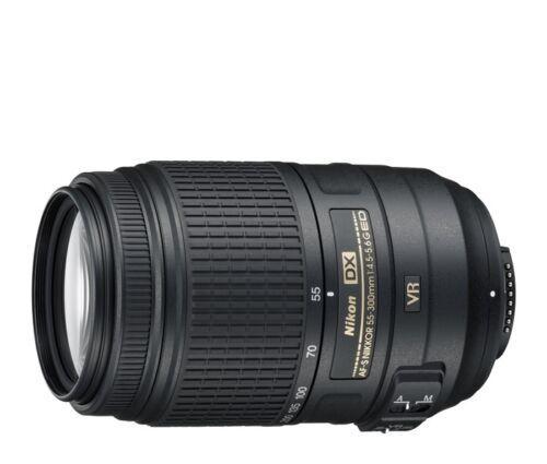 Nikon Nikkor AF-S 55-300mm F/4.5-5.6 VR DX ED G Lens USA WARRANTY FREE SHIPPING! in Cameras & Photo, Lenses & Filters, Lenses | eBay