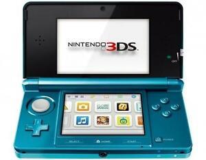 Nintendo 3DS Aqua Blau Handheld-Spielkon...