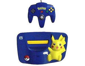 Nintendo 64 Pikachu Pokemon Blue & Yello