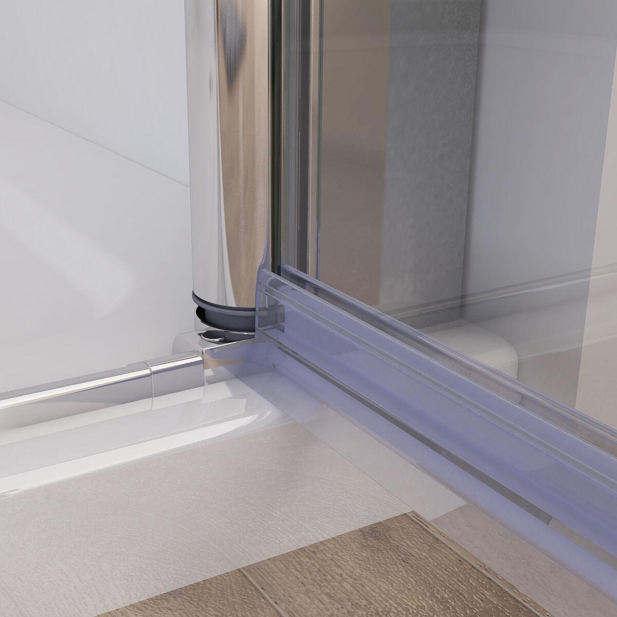 nischent r duschabtrennung faltt r duschwand dusche nano glas 80 120 x 195 cm da ebay. Black Bedroom Furniture Sets. Home Design Ideas