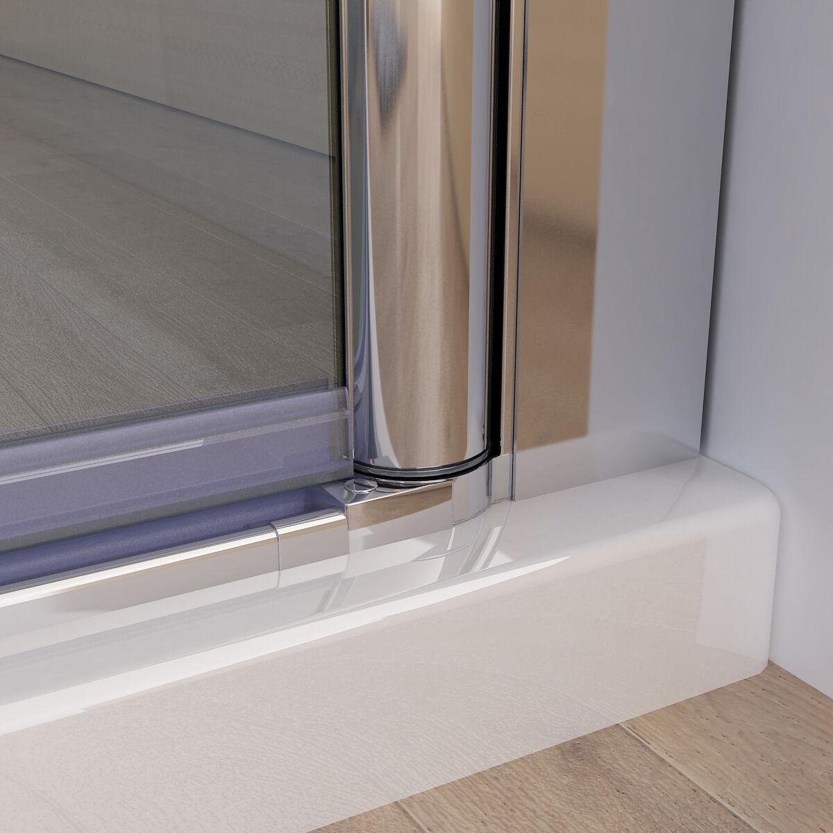 nischentür duschabtrennung schwingtür duschwand dusche nano glas