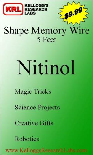 Nitinol SHAPE MEMORY Wire for magic tricks, robotics in Collectibles, Fantasy, Mythical & Magic, Magic | eBay