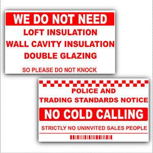 no cold calling salesman callers window door sticker sign. Black Bedroom Furniture Sets. Home Design Ideas