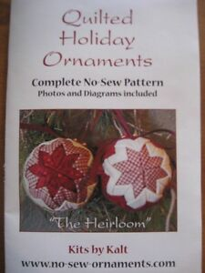 quilted ornament pattern | how to make quilted Christmas