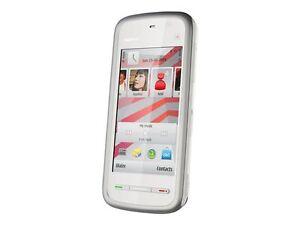 Nokia-5230-Weiss-Grau-Ohne-Simlock-Orginalverpackt-Smartphone-mit-Navi