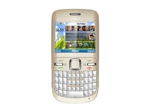 Nokia C3-00 - Golden White (Unlocked) Sm...