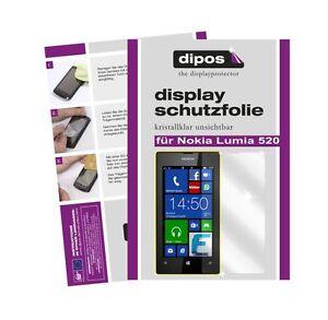 Nokia-Lumia-520-Schutzfolie-klar-Displayschutzfolie-Folie-unsichtbar-dipos-1A