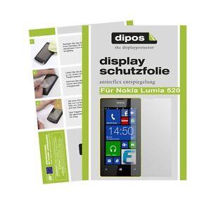 Nokia-Lumia-520-Schutzfolie-matt-Displayschutzfolie-Folie-Antireflex-dipos-1A