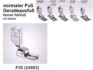 Normaler-Naehfuss-Geradeausfuss-fuer-Industrienaehmaschine-Fuss-P35-Kennenlern-Angeb
