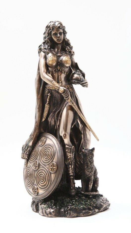 Norse viking decorative goddess freya figurine statue paganism fertlity and love ebay - God and goddess statues ...
