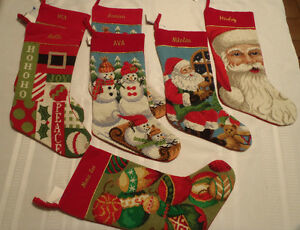 north pole trading company christmas stocking needlepoint With north pole trading company letter ornaments