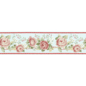 ... about Norwall Linen Rose Wall paper Border Flowers AB78278 roses
