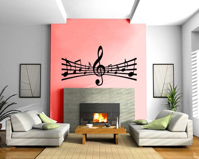 Notes Music Paper Song Composing Art Wall Mural Vinyl Art Sticker M030