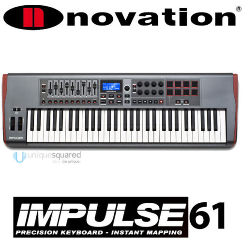 Novation Impulse 61 Key USB MIDI Controller Keyboard in Musical Instruments & Gear, Electronic Instruments, Electronic Keyboards | eBay