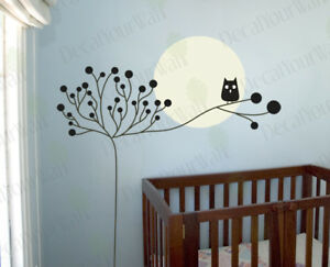 Nursery Kids Room Decor Tree Owl wall Art Decal sticker in Home & Garden, Kids & Teens at Home, Bedroom, Playroom & Dorm Decor | eBay