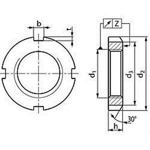 Nutmuttern-DIN-981-Stahl