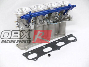 Fremont Acura on Obx Individual Throttle Body Itb Fitfor Acura Rsx Honda Si K20 K24 Blu