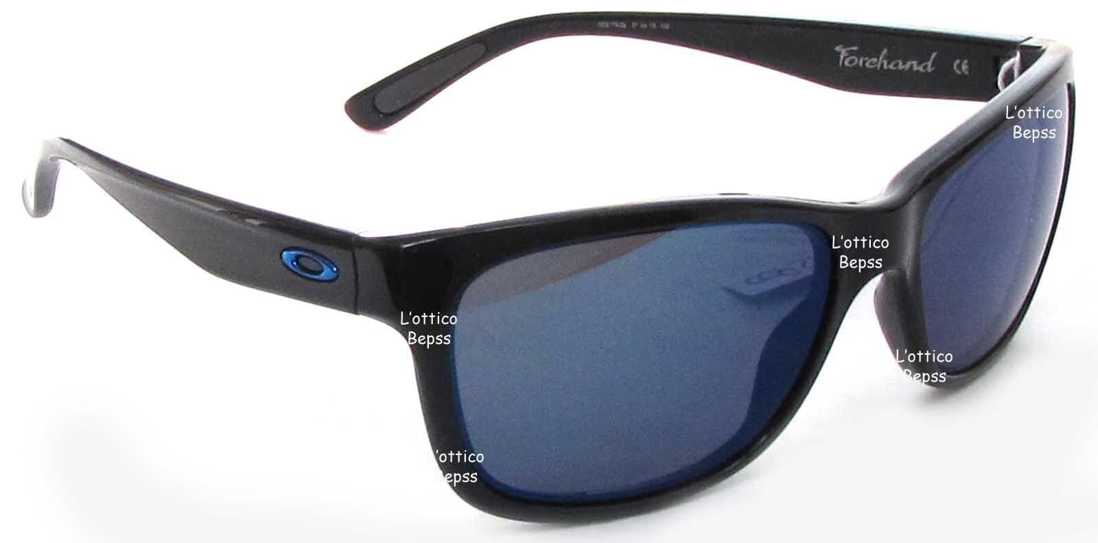a1154bddaea29 Details about SUNGLASSES OAKLEY mod. FORCHAND 9179-29 SHINY BLACK Lens ICE  IRIDIUM