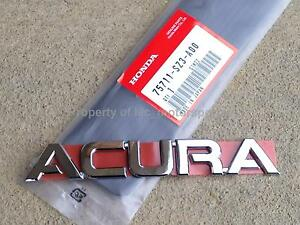 Acura Typespecs on Genuine Honda Rsx K20 Dc5 Type S Rl Tl Tsx  Acura  Trunk Rear Emblem