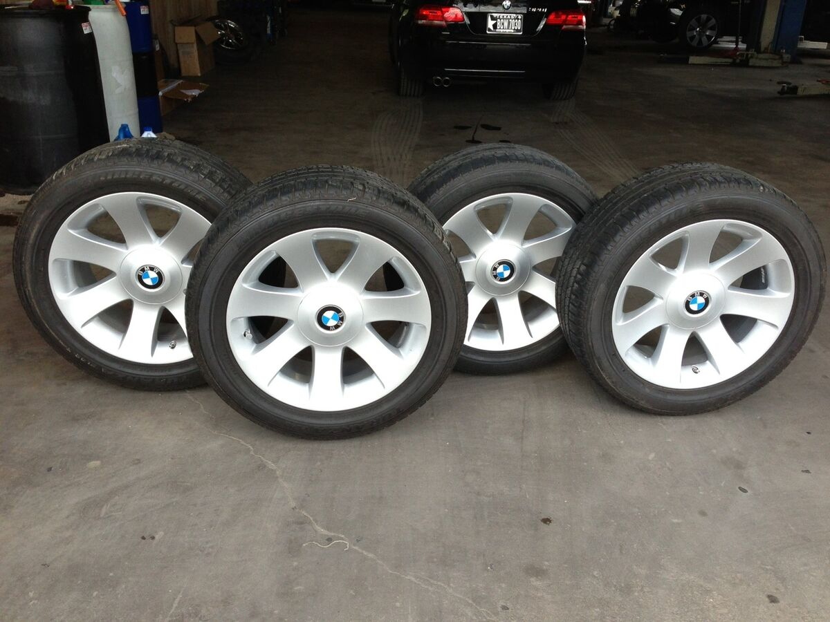 Original 18 BMW 745 750 Wheels Rims 175 with Bridgestone Tires 245 50