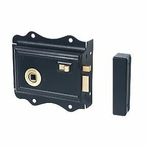 victorian style rim bathroom bedroom lock latch black snib ebay