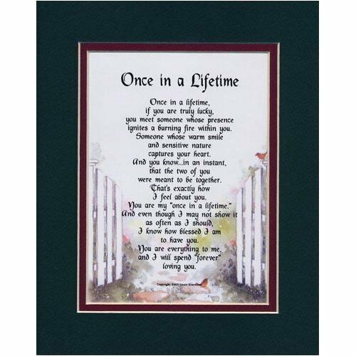 LIFETIME   LOVE VALENTINES DAY VALENTINE GIFT POEMS HUSBAND WIFE LOVER