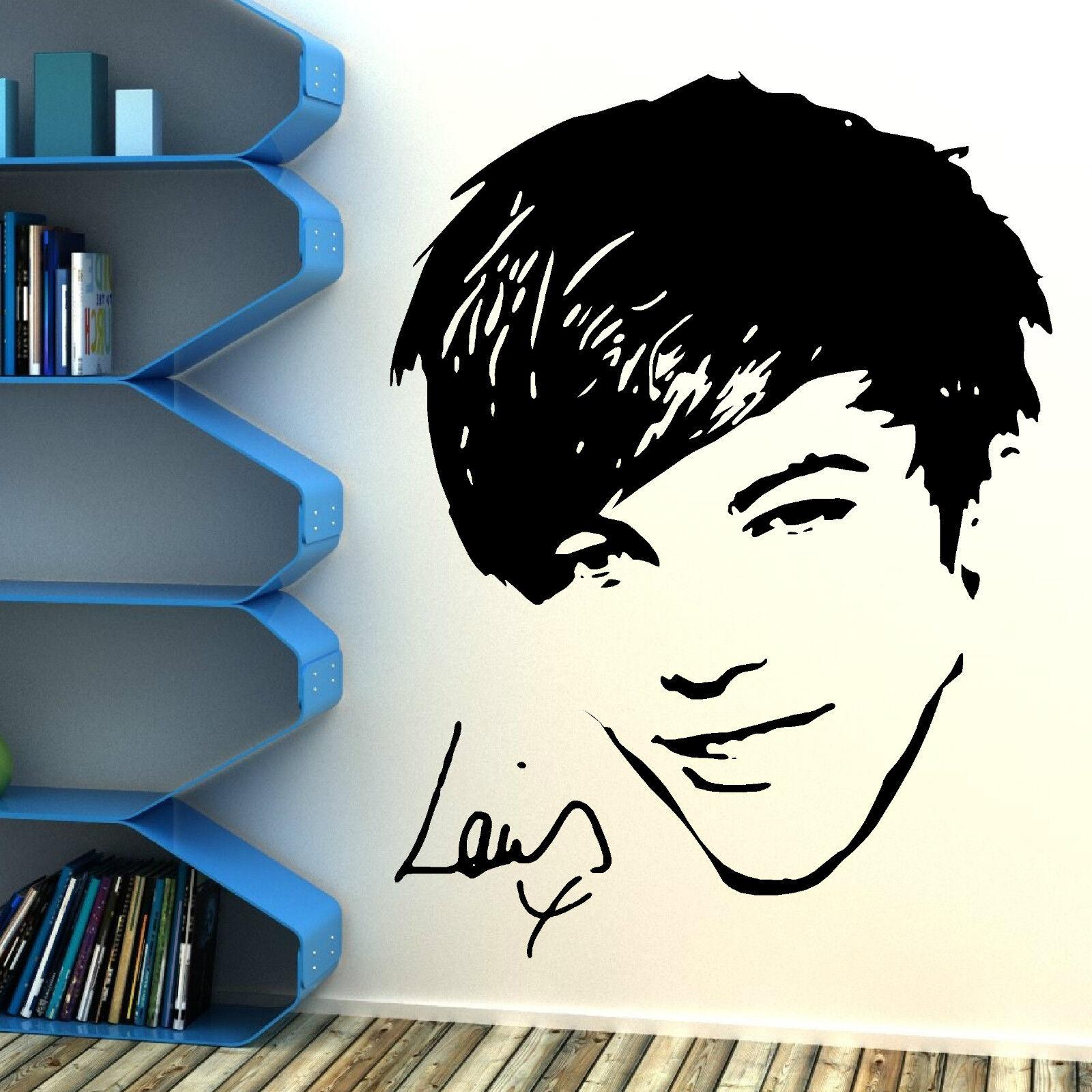 one direction louis tomlinson 1d vinyl wall art sticker bedroom ebay. Black Bedroom Furniture Sets. Home Design Ideas