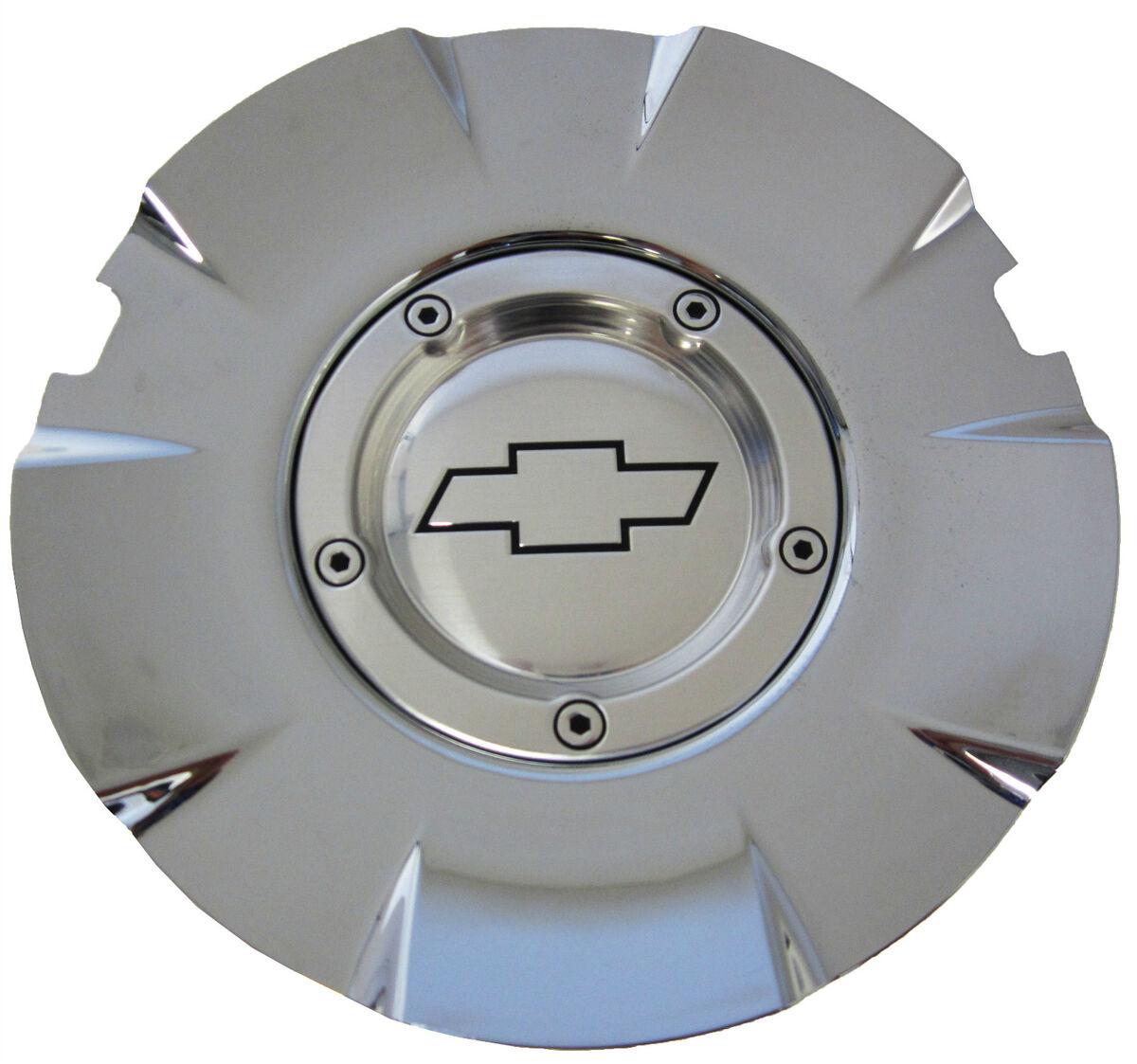 "One Factory 20"" Chevy Chrome SS Truck Wheel Rim Bow Tie Center Cap Emblem Hub"