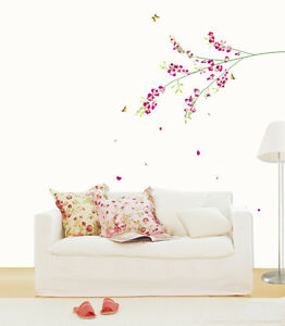 ORCHID FLOWERS Adhesive Removable Wall Decor Accents Sticker Decal Vinyl Paper in Home & Garden, Home Decor, Decals, Stickers & Vinyl Art | eBay