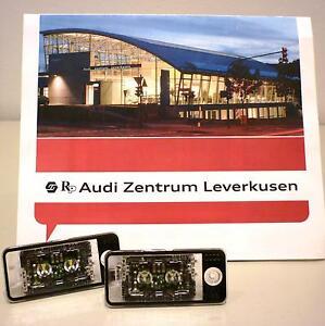 ORIGINAL-AUDI-KENNZEICHENLEUCHTEN-LED-WEIss-BELEUCHTUNG-UMBAU-TUNING-A3-A4-A6-Q7