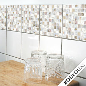 original boubouki mosaik sticker fliesenaufkleber f r bad oder k che ebay. Black Bedroom Furniture Sets. Home Design Ideas