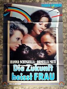ORNELLA-MUTI-H-SCHYGULLA-ZUKUNFT-HEISST-FRAU-A1-Filmposter-Ger-1-Sheet