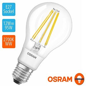 osram 12w wie 100w e27 filament led birne 2700k warmwei 1420lm 300 grad weit ebay. Black Bedroom Furniture Sets. Home Design Ideas