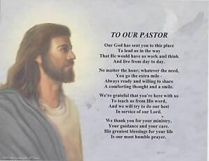 Our Pastor Priest Poem Jesus Print Personalized Name | eBay
