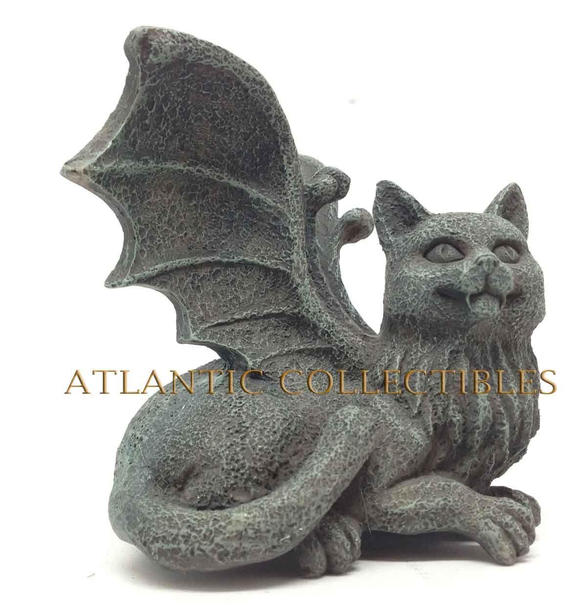 Medieval decorative figurine statue eagle winged cat gargoyle desktop