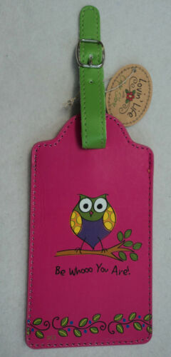 OWL be whoo you are LUGGAGE TAG suitcase ID vegan leather in Travel, Luggage Accessories, Luggage Tags | eBay